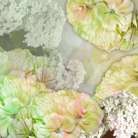 pastel color: floral postcard pastel color