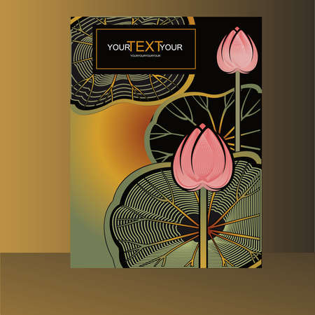 lotus flowers: cover with a lotus flowers and leaves