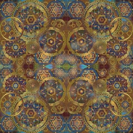 crackles: geometrical oriental  background, effect crackles