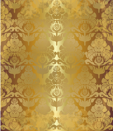 pompous: vintage old floral spotty background Illustration