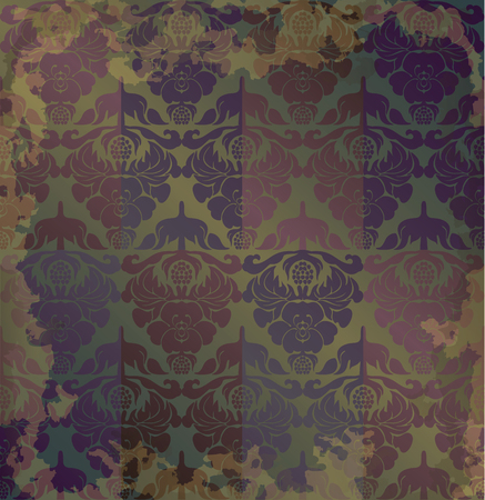 pompous: vintage old floral shabby background