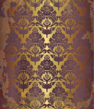 pompous: vintage old floral  background, eps10