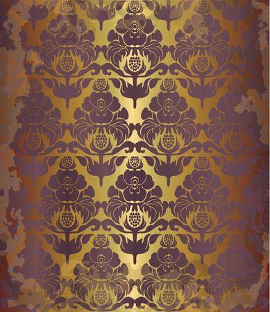 craquelure: vintage old floral  background, eps10