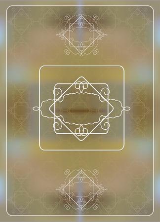 lace board on a beige seamless pattern  Illustration