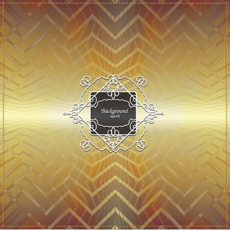 filigree: filigree frame on golden geometrical background