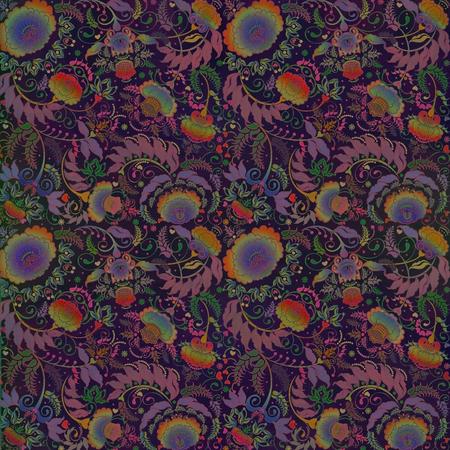 gradation art: dark  motley floral design Stock Photo
