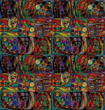 motley: motley geometrical stylized pattern