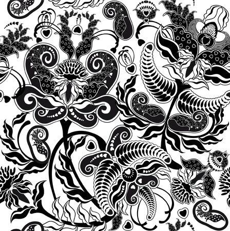 in bianco e nero senza giunte floreale