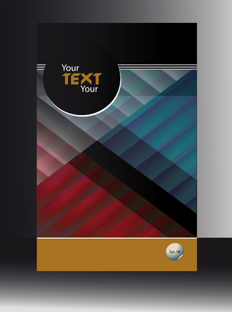 austere: cover booklet abstract geometrical background Illustration