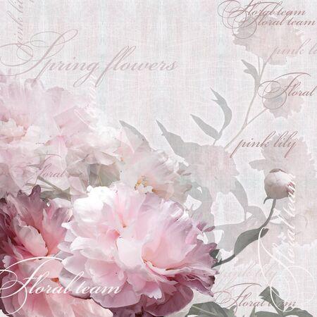 peonies: floral design peonies Stock Photo