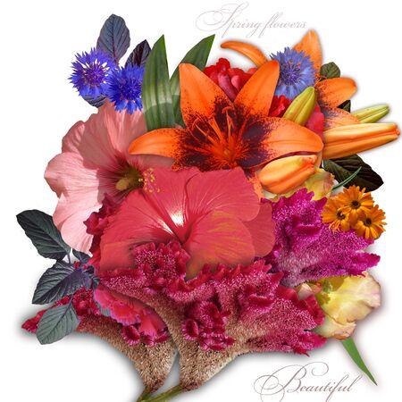 italics: floral design ibouquet on dark background