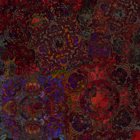 mottled background: floral design mottled background red-brown