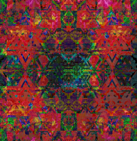 motley: abstract motley vivid spotted red-green background