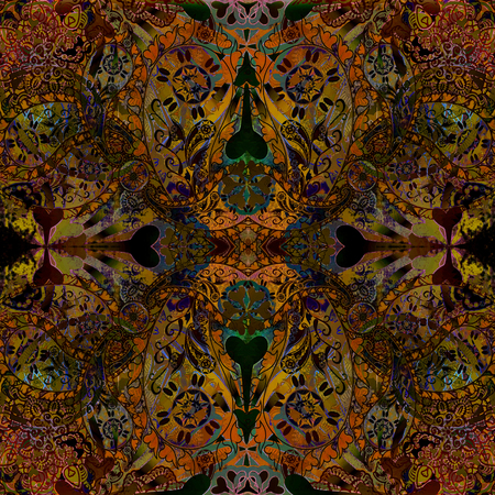 dull: abstract floral pttern warm colored
