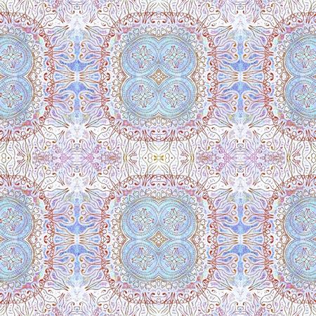 抽象的な古いぼろぼろエスニック パステル カラー パターン 写真素材