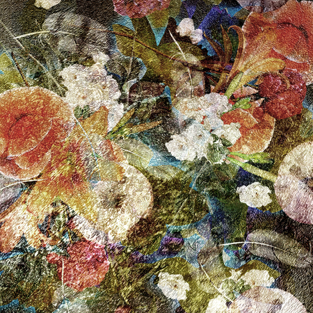 abstract colorful spotted floral background