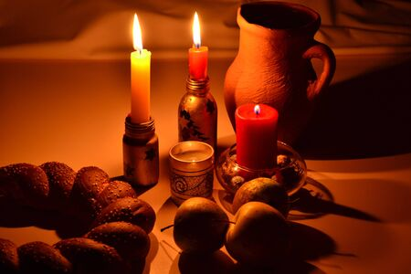 still life with a candle Stock Photo - 16260988