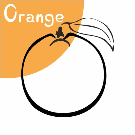 fruit juice: orange, fruit, vegetable,  black and white, sketch, juice, label, citrus