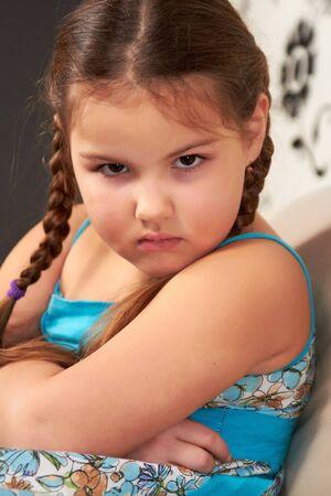 Evil little girl. Stock Photo - 8960412