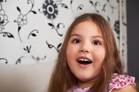 Surprised little girl.