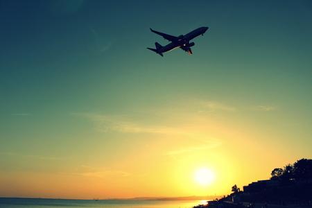 atc: sunset aircraft take off