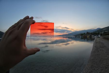 gradual: las diferencias entre el uso de filtro de color naranja gradual o no usar