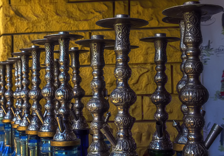 traditional culture: there are retro entartainment objects hookah traditional middle east culture