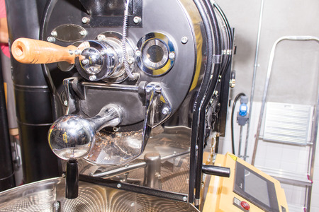 roaster: empty coffee roaster without coffee Stock Photo