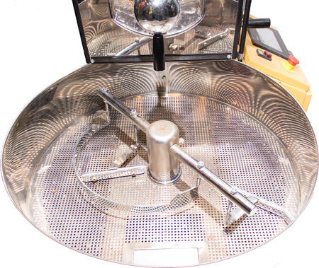 Roaster: isolated empty coffee roaster without coffee