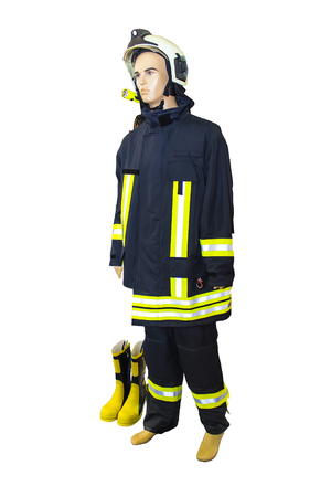 pretender: Isolated Fire Fighting Gear With Display Dummy