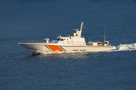 guard ship: Coast Guard at Istanbul Bosphorus