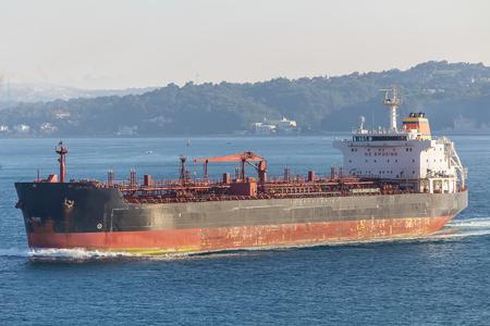 tanker ship: Tanker Ship Passing the Istanbul Bosphorus