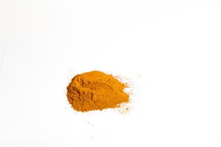 over white: Isolated cinnamon over white studio Stock Photo