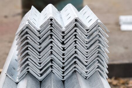 row: Galvanized steel material in row