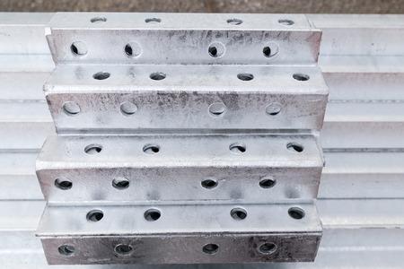 galvanized: Galvanized steel material in row
