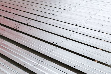 steel: Galvanized steel material in row