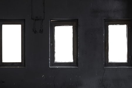 abandoned factory: Abandoned factory window for design
