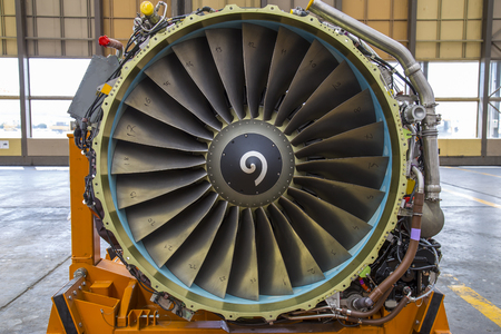 airscrew: airplane engine front view close up Stock Photo
