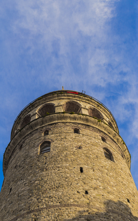 water quality: High quality Galata Tower view with blue sky for design