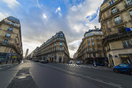 Paris, France; October, 22 2017: General view from the Paris Streets where is the most visited city in the world Editorial
