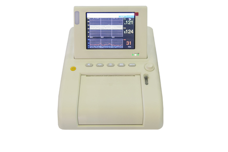 Isolated Non stress test monitor which shows the fetus and mother heart and stress rate