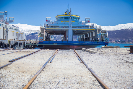 a Ferryboat that carries train