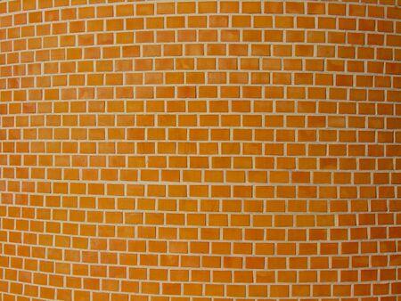 clinker: wall yellow Stock Photo