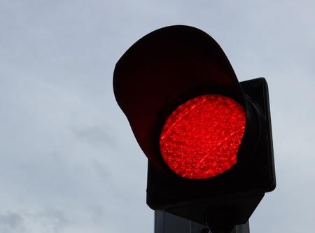 red traffic light: red traffic light Stock Photo