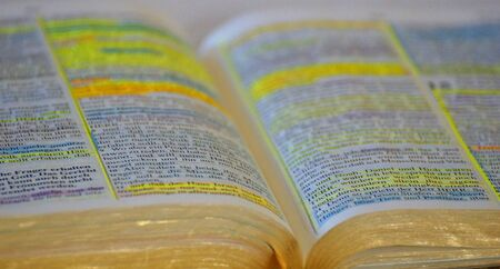 background open Bible with markings Stock Photo - 16246611