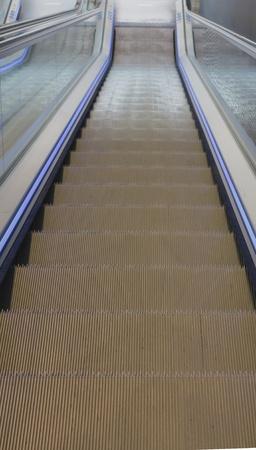 escalator: escalator down Stock Photo