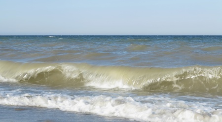 summer day on the see with beautiful waves  photo