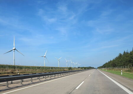 sightseeing and travel on the highway in northern Germany in Europe photo
