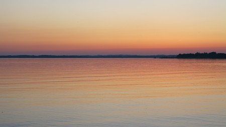 Beautiful sunset at the Chiemsee in Germany