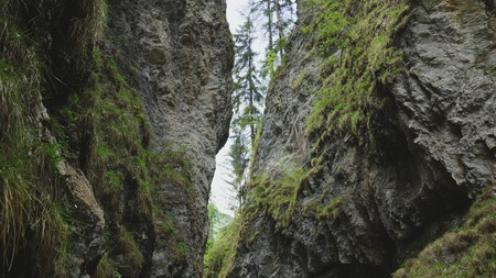 imposing canyon and gorge in the Alps